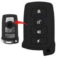 4 tasten Silikon Auto Schlüssel Fall Abdeckung Für Keyless Start Modell BMW 745i 745Li 750i 750Li 760i 7 Serie E65 e66 E67 E68