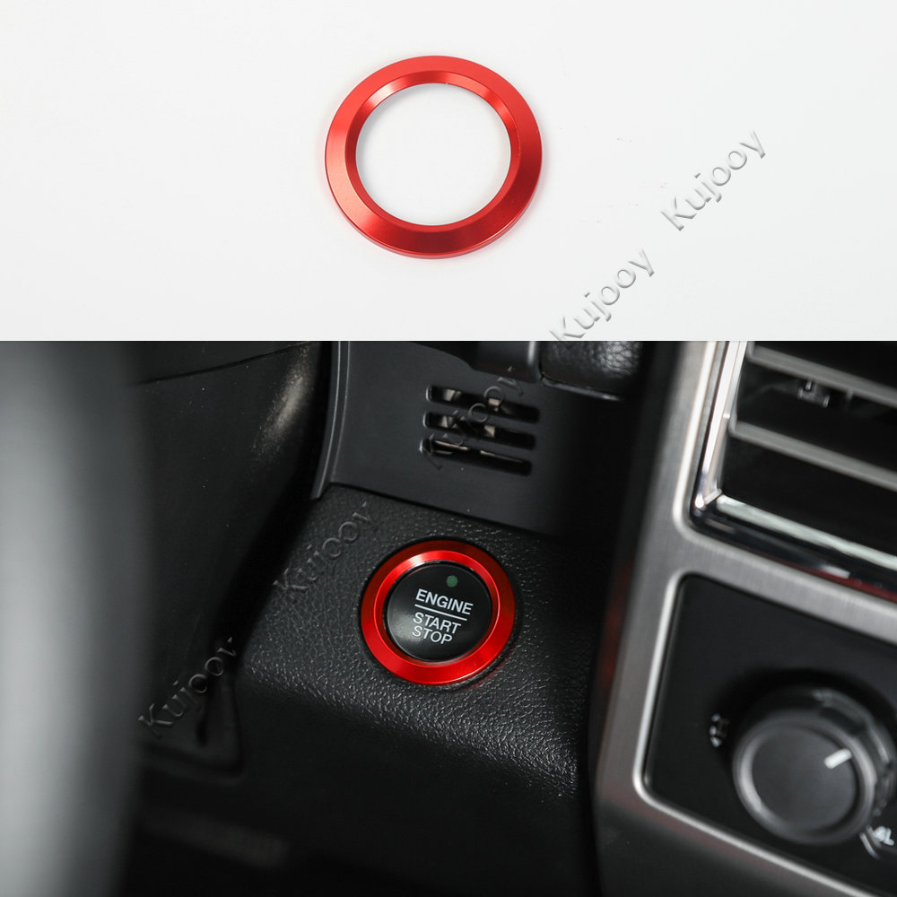 New Aluminum Light Switch Ring Trim For Ford Explorer 2011-2017 Red