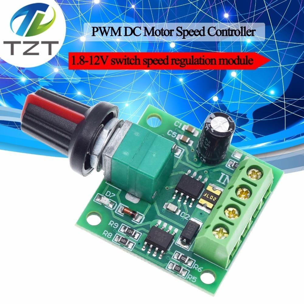 PWM 1.8V 5V 6V 12V 2A Switch Variabl Speed RegulatorDC Motor Speed Controller ^P