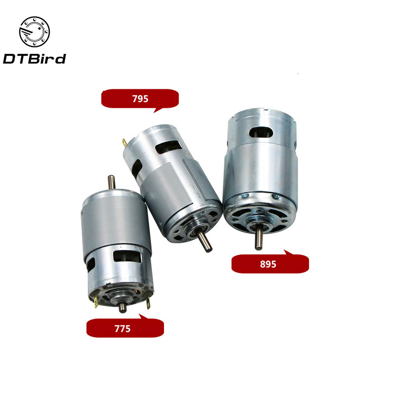775 795 895 DC Electric spindle Motor For Drill 12V Brush Dc motors Rs 775 Lawn Mower Motor With Two Ball Bearing Rated