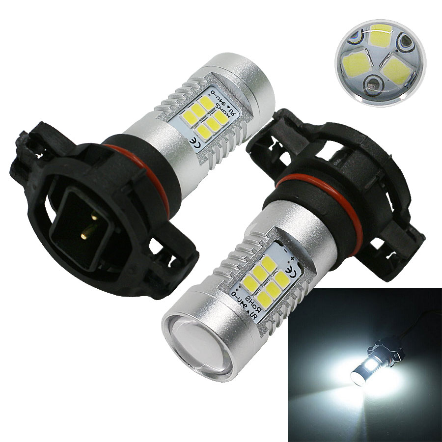 2pcs High Power White LED <font><b>2835</b></font> <font><b>SMD</b></font> 5202 H16 PS24W LED Bulbs For Car Fog Lights Front Drving Lights <font><b>6000K</b></font> 12V image