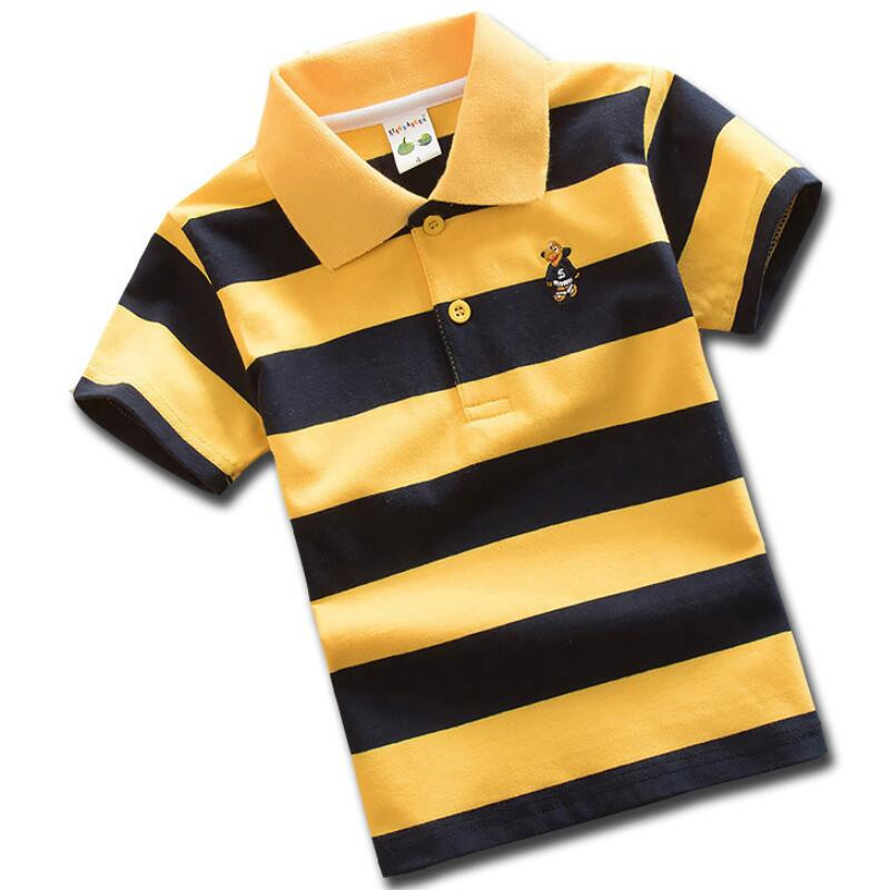 Boys Summer Top T shirt Short sleeve Casual Cotton Sport Polo Age 2-11 years