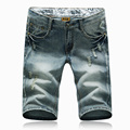 2016 new arrival summer men's casual hole Denim shorts, men's pure color shorts,plus-size 28-38 2 color