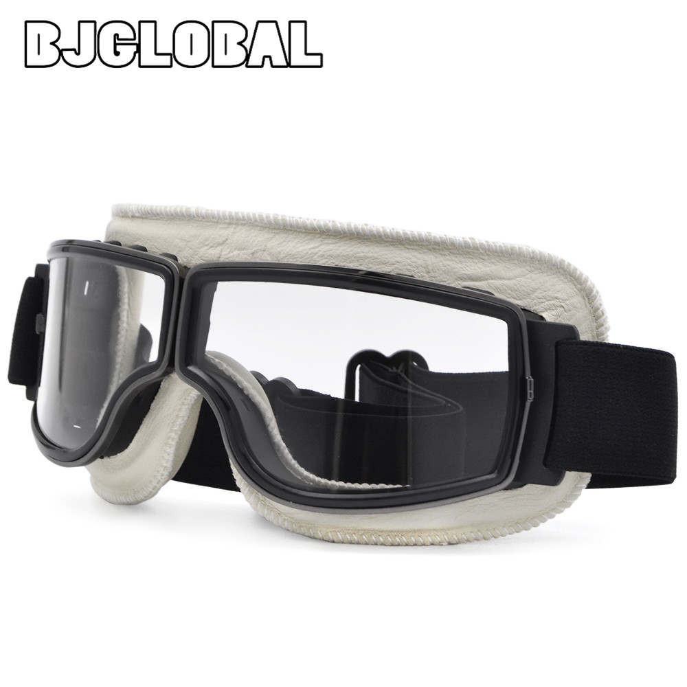 BJGLOBAL 2018 WWII Vintage Motorcycle Gafas Motocross Moto Scooter Goggle Glasses For Harley