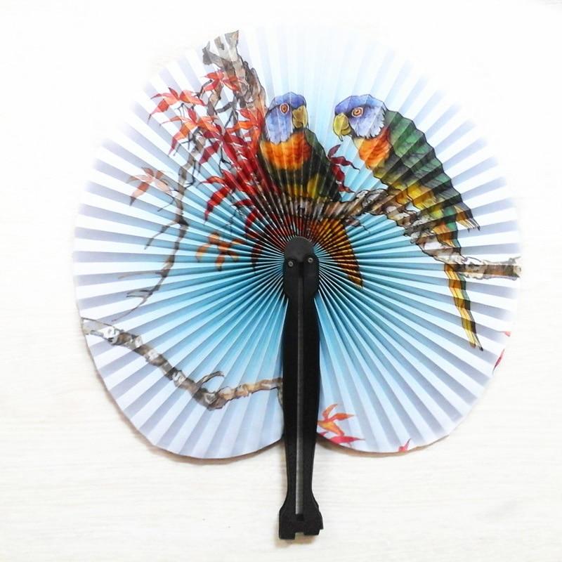 05126d1216 2 unids lote chino plegable mano papel Ventiladores para evento Fiesta  suministros boda decoración del hogar artesanía chica bailando ventilador  75z
