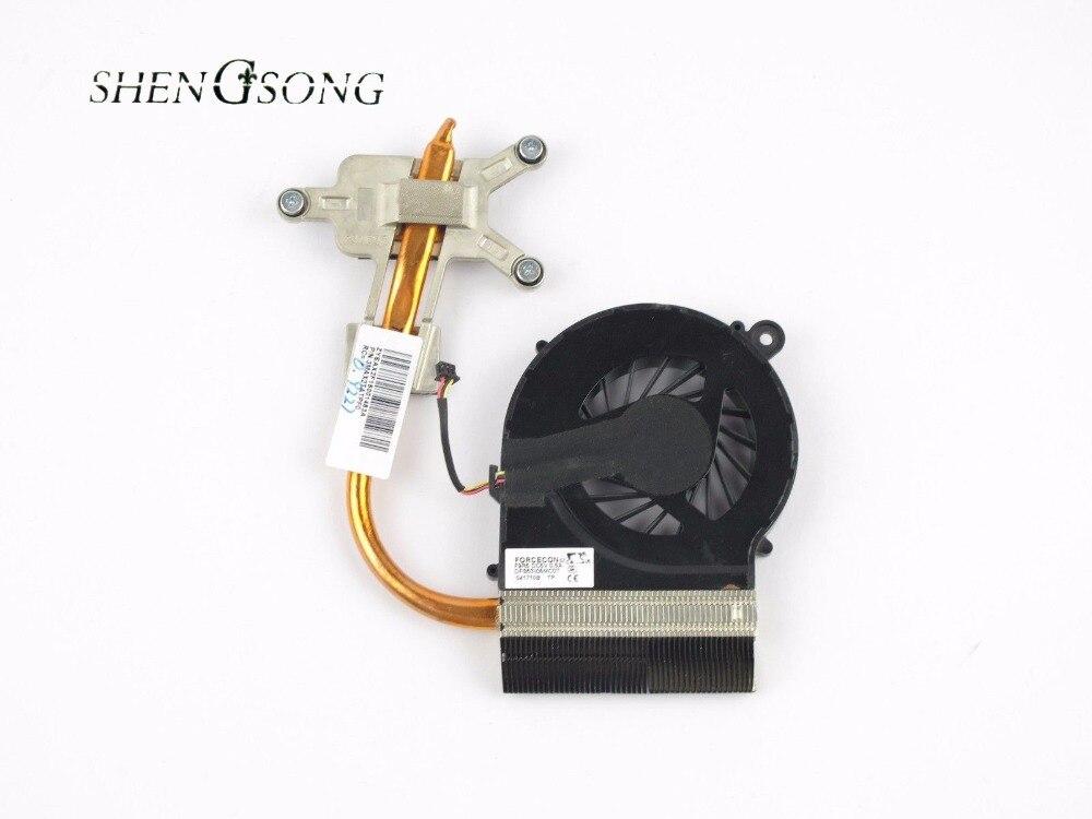 Livraison Gratuite Refroidisseur pour HP CQ42 CQ62 G42 G62 CPU radiateur de refroidissement avec ventilateur 606609-001 607084-001