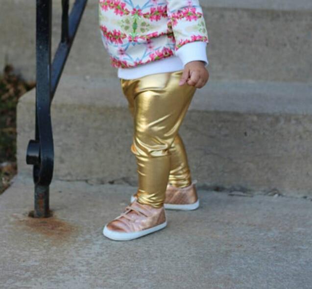 c5cb1db2df28f Metallic Gold Vegan Faux Leather Leggings for Baby and Toddler,Girls Metallic  Gold Leggings,Metalic Gold Baby Leggings-in Pants from Mother & Kids on ...