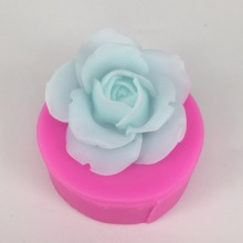 3D Rose Making Silicone Mold for Soap DIY Cake Chocolate Flower Molds