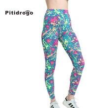 Pitidrogo Brands Yoga Leggings Spring Autumn Women Fashion Printing Slim High Waist Woman yoga Pants 15214