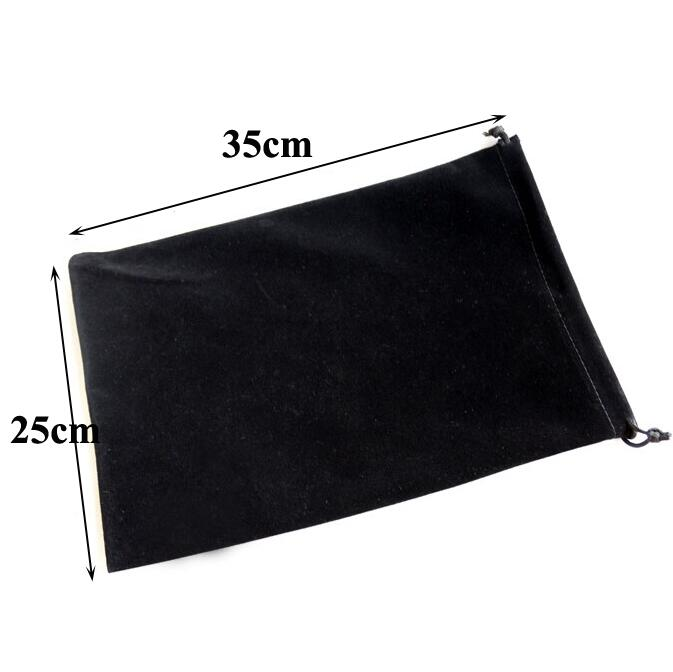 Retail Big Size 25x35 Cm Drawable Drawstring Velvet Bags For Tablet PC Christmas Gift Bags Wedding Packing Bag Book Bags