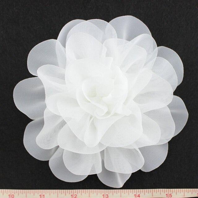 12pcslot handmade white large chic chiffon flowers 6 inches fabric 12pcslot handmade white large chic chiffon flowers 6 inches fabric flower wedding mightylinksfo