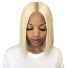 150% Density Lace Front Human Hair Wigs 613 Blonde Short Bob Straight Lace Wigs Brazilian Remy Human Hair Pre plucked Hairline(China)