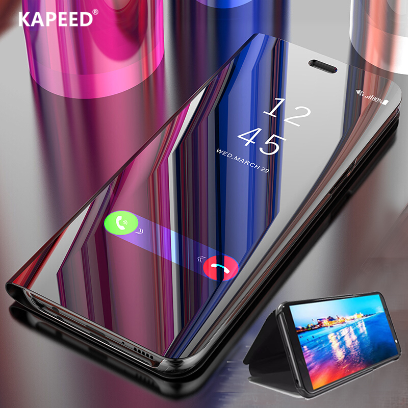 Phone Case For Samsung Galaxy A70 A50 A30 Luxury Smart Mirror Full Protection Flip Cover Cases For Samsung A10 A20 A40 Fundas image