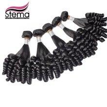 Brazilian Virgin Hair 100% Virgin Human Hair 5pc/lot FUNMI CURL Funmi Popular to Nigeria Color 1B One Donor Hair Extension