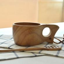 Portable Coffee Milk Cups Wood Handmade Christmas Gifts New Year Eco-friendly Real Garrafa Termica Squeeze Mug