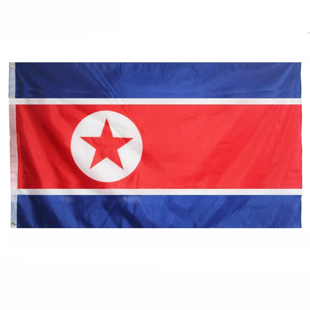 Johnin 90*150cm PRK KP NK North Korea Flag For Decoration