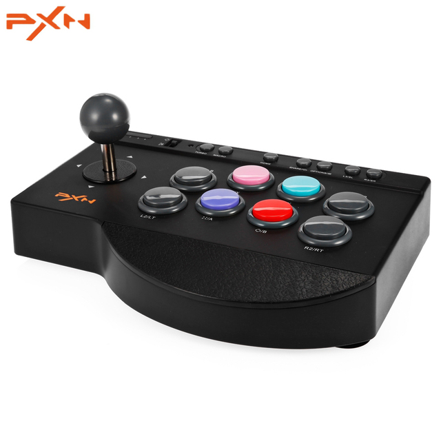 US $27 99 |PXN 0082 Arcade Joystick Game Controller Wired Gamepad for  PC/PS3/PS4/Xbox one TURBO and MACRO function Support Switch-in Joysticks  from