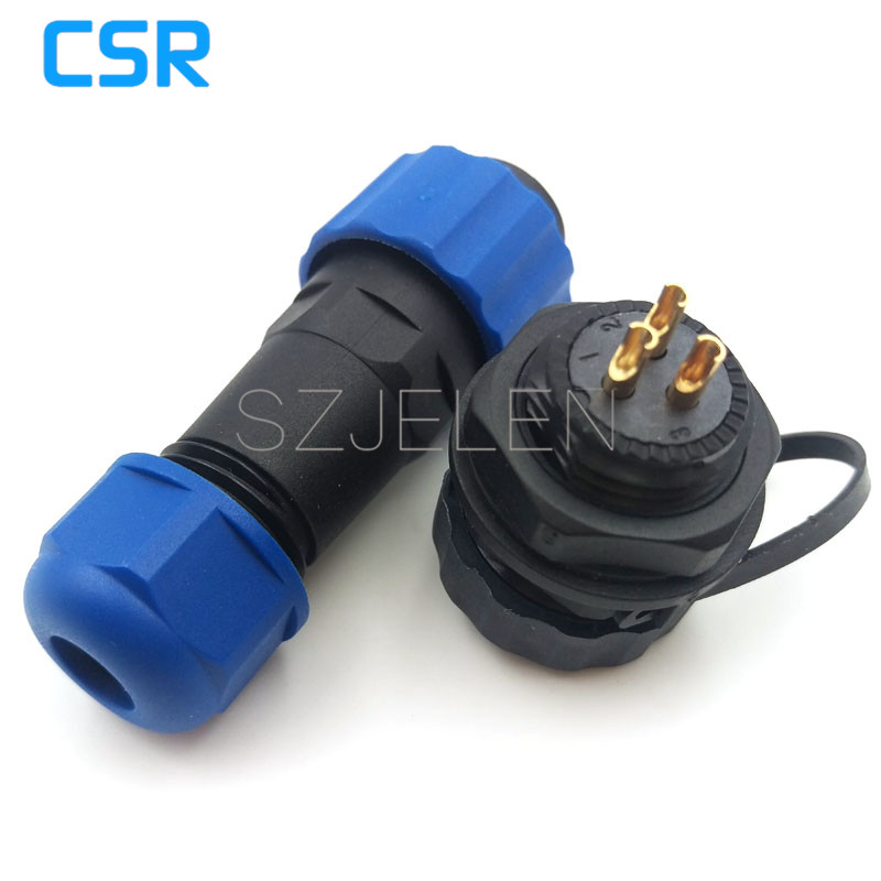 SD16 , 3 pin Waterproof Connector IP68, LED panel mount connectors, automotive connectors, 3 pin cable connector plug socket sd28tp zm 16 pin waterproof connectors led cable plug and socket ip67 industrial panel mount connector current rating 10a