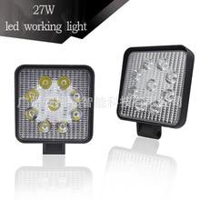 27W automobile led working lamp ultra-thin spotlight LED headlamp off-road vehicle headlamp ultrafire w03 led headlamp