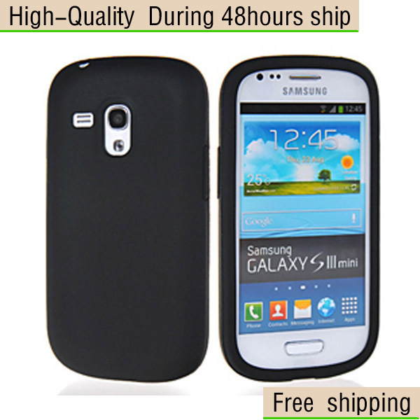 New Soft Silicone Skin Case Cover for Samsung Galaxy S III S3 Mini i8190 Free Shipping UPS DHL EMS HKPAM CPAM FX-75