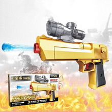 2019 Outdoor Fun Educational Toys Sports Children Intelligence Spelling Assembly Toy Pistol Simulation Model Desert Eagle