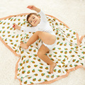 4 Layers  Baby Muslin Swaddle Blanket Bamboo Breathable Newborn Blanket Character Baby Muslin Blanket Infant Muslin Bath Towel