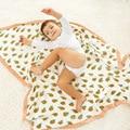 4 Layers  Baby Muslin Swaddle Blanket Bamboo Breathable Newborn Blanket Character Baby Muslin Blanket Infant Muslin Bath Towel