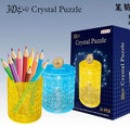 candice guo plastic toy 3D crystal assemble model game Pen container saving box multi-function hand work DIY baby birthday gift