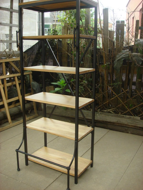 French Country Furniture, French Wrought Iron Bookcase Bookcase Shelves  Display Rack LOFT Industrial Shelving In Swivel Plates From Home  Improvement On ...