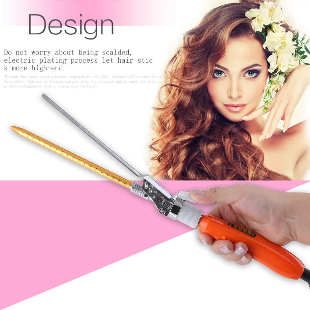 2018Electric Hair Curler Ceramic Curling Wave Machine Portable Spiral Hair Curlers Rollers Curling Iron Wand Hair Styling Tools vieschen 110 240v deep curly hair styler curls ceramic curling iron wave machine pro spiral hair curlers rollers curling wand