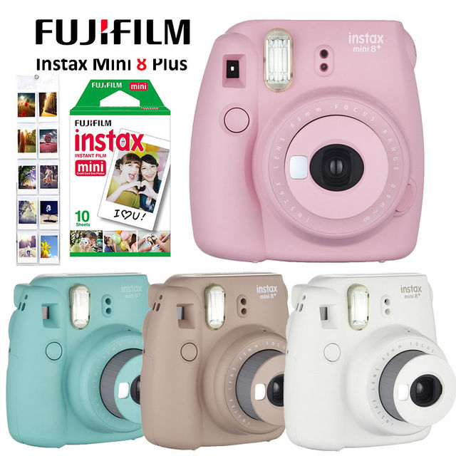4 Colors Fujifilm Instax Mini 8 Plus Camera   10pcs Fuji Instax Mini     Fujifilm Instax Mini 8