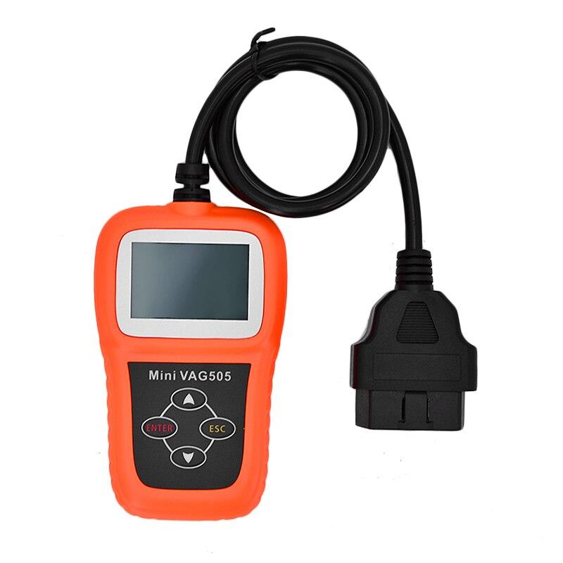 Цена за Многоязычная Авто Диагностика Мини VAG505 Супер Профессиональный для VW/для AuDi Сканер OBD Код Сканер vag 505