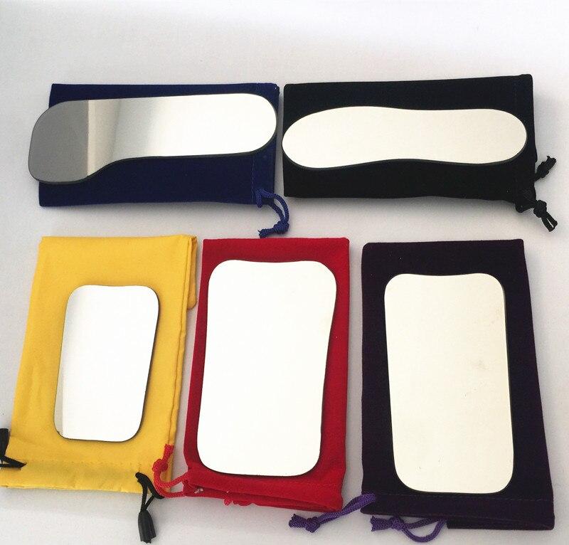 5 stücke Dental Kieferorthopädische Intraorale Fotografische Reflektor Spiegel 2 Seitige Rhodium Glas Spiegel Mit Lagerung Tasche Für Zahnklinik