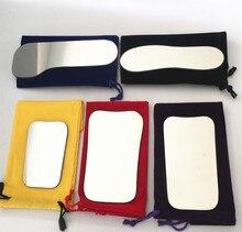 5pcs שיניים אורתודונטי Intraoral רפלקטור צילום מראה 2 צדדי רודיום זכוכית מראות עם אחסון תיק למרפאת שיניים