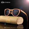 EZREAL New 2017 Womens Bamboo 100% Natural Zebra Wooden Sunglasses With Coating Mirrored UV 400 Protection Lenses in Wooden Box