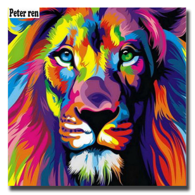 aliexpresscom buy diy crafts 100 full square diamond embroidery lion color painting cross sittch 3d crystal mosaic picture of rhinestones mazayka from