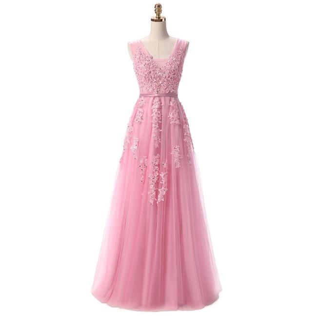 Robe De Soiree SSYFashion, кружевное, с бисером, сексуальное, с открытой спиной, длинное вечернее платье, для невесты, банкета, элегантное, длина до пола, для вечеринки, выпускного вечера - Цвет: Dark Pink