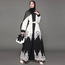 Новое мусульманское платье абайя s для элегантной мусульманской Абайи платье кардиган халат турецкий хиджаб мусульманская молитвенная одежда Дубай Z411