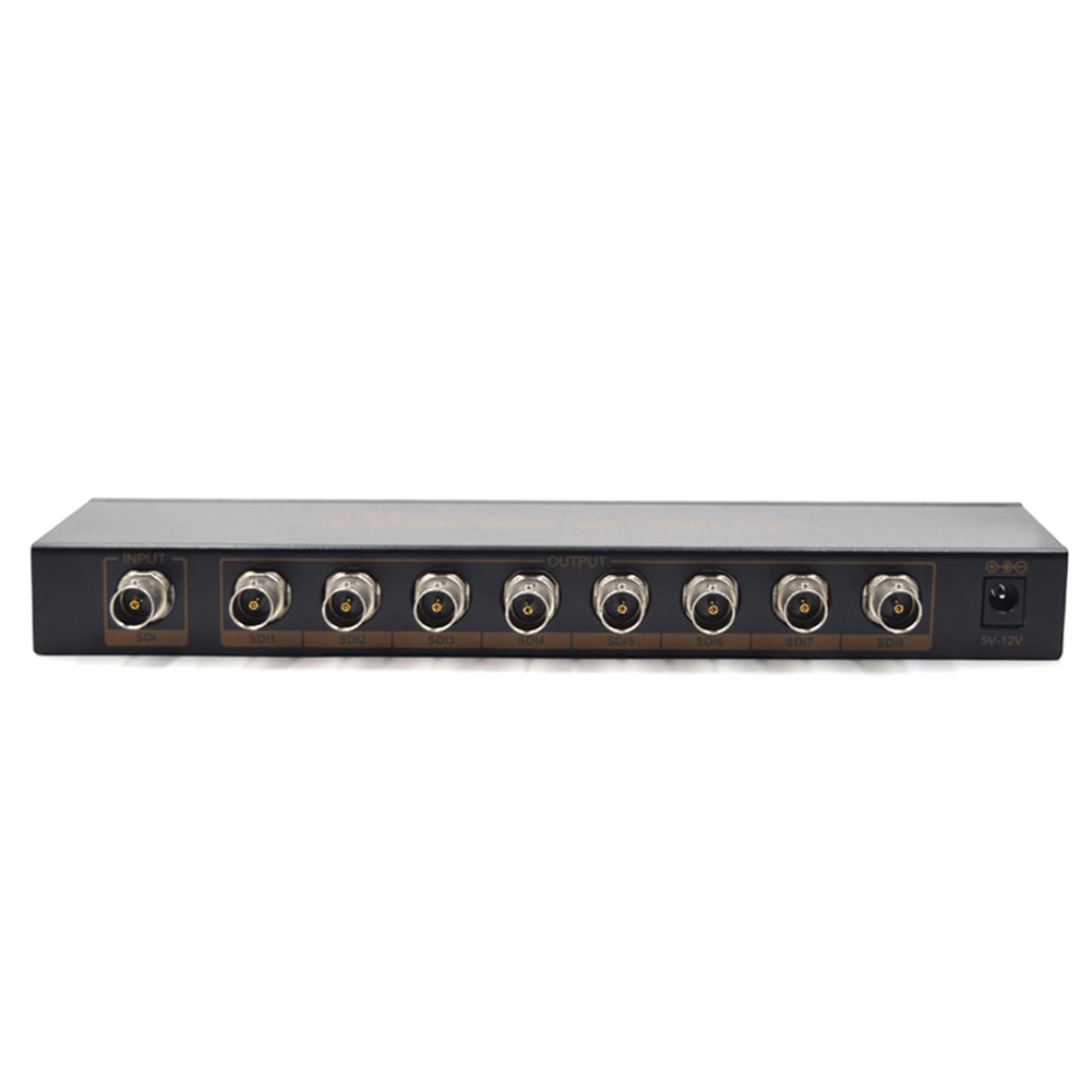 High Quality HD-SDI or 3G-SDI video source to 8 SDI/HD-SDI/3G-SDI displays simultaneousl With Power Supply Adapter A#S0
