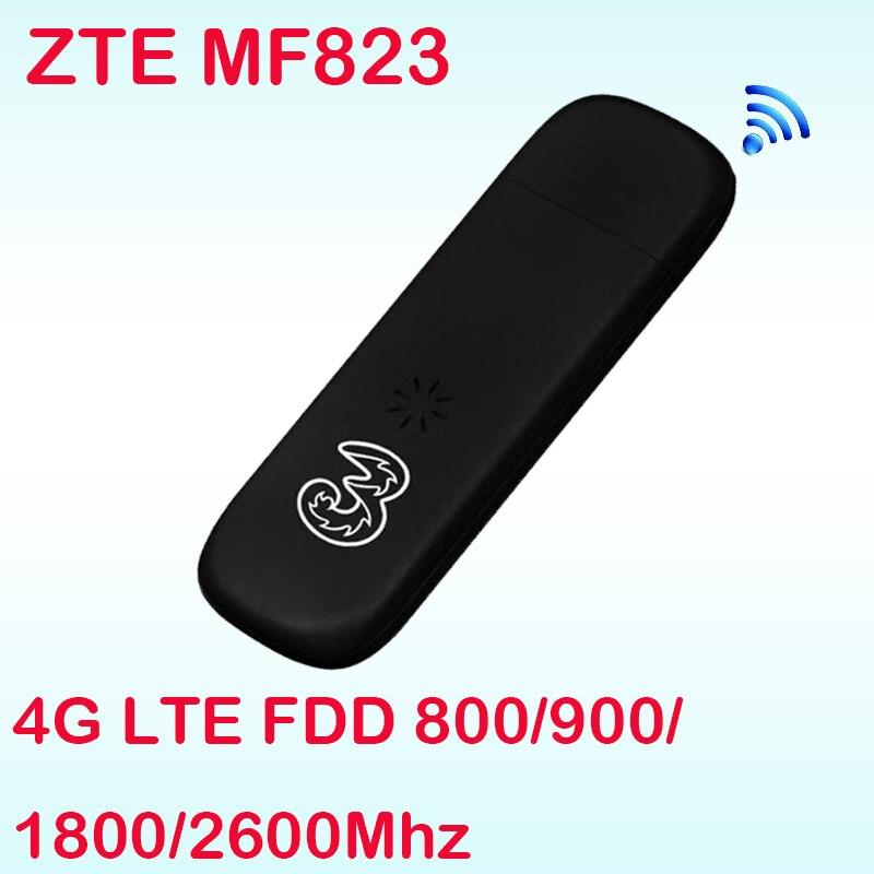 Unlocked ZTE MF823 wifi USB Dongle USB Stick Datacard band 3 7 8 Mobile SIM Card 4g adapter Hotspot Dongle PK e3372 e3276 e5776