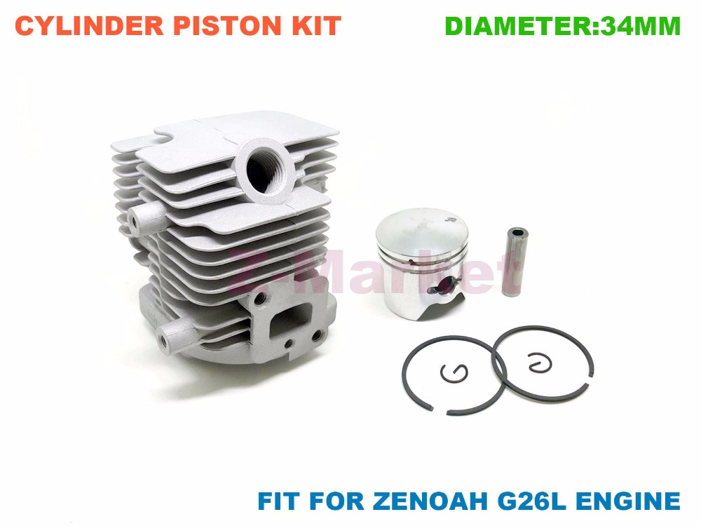 US $70 0 |Wholesale 5PCS Cylinder Piston Kit for ZENOAH G26L BC2610  Husqvarna 226RJ Brush Cutter Grass Trimmer  Engine Garden Tools Parts-in  Tool