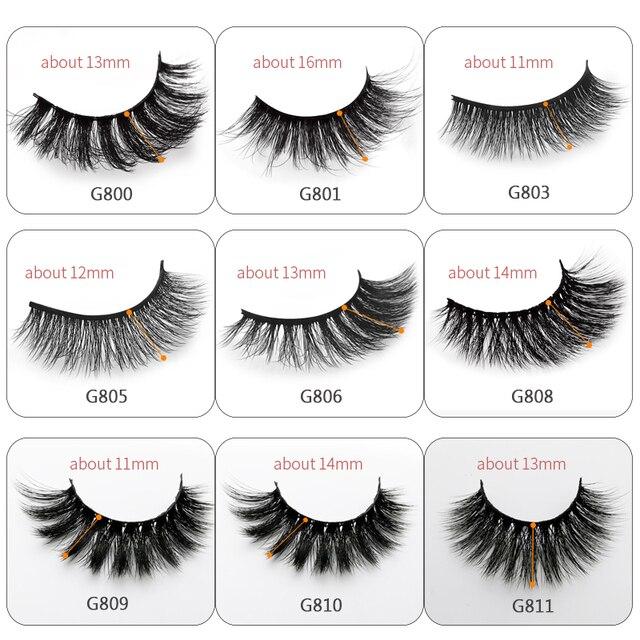 5 Pairs eyelashes 3d mink lashes eyelash extension natural false eyelashes volume lashes maquillaje mink eyelashes makeup cilios 2