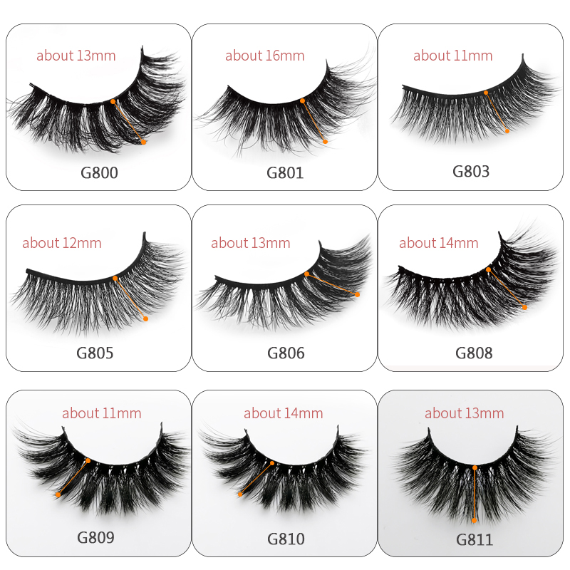 Image 2 - 50 Boxes eyelashes wholesale mink strip lashes natural 3d mink eyelashes faux cils eyelashes maquiagem fluffy false eyelashes G8-in False Eyelashes from Beauty & Health