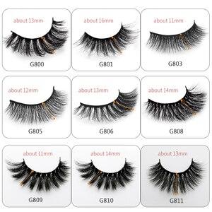 Image 2 - 50 Boxes eyelashes wholesale mink strip lashes natural 3d mink eyelashes faux cils eyelashes maquiagem fluffy false eyelashes G8