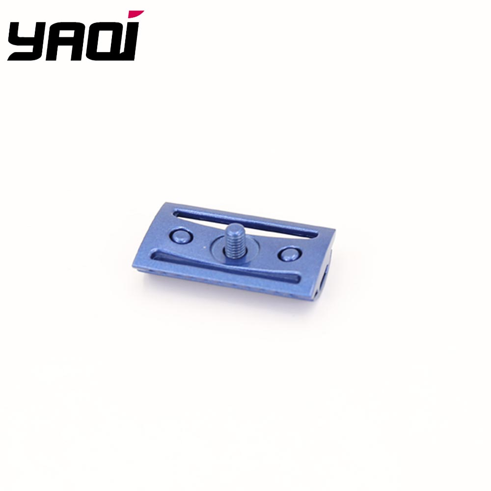 Yaqi Space Blue Color Scalloped Bar Double Edge Safety Razor Head Without Logo