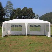 New Durable 3*6M Outdoor Canopy Waterproof PE Gardens Gazebo Marquee Portable Party Tent Universal Awning Canopy
