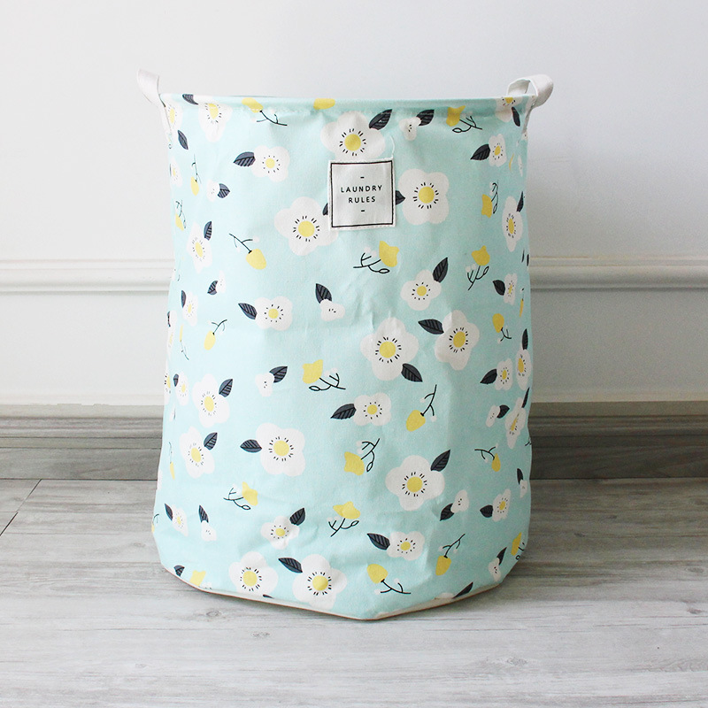 Kids Children Toy Organization Linen Barrels Box Clothing fabric foldable Storage baskets for Laundry Boxes Folding Bags Bedroom