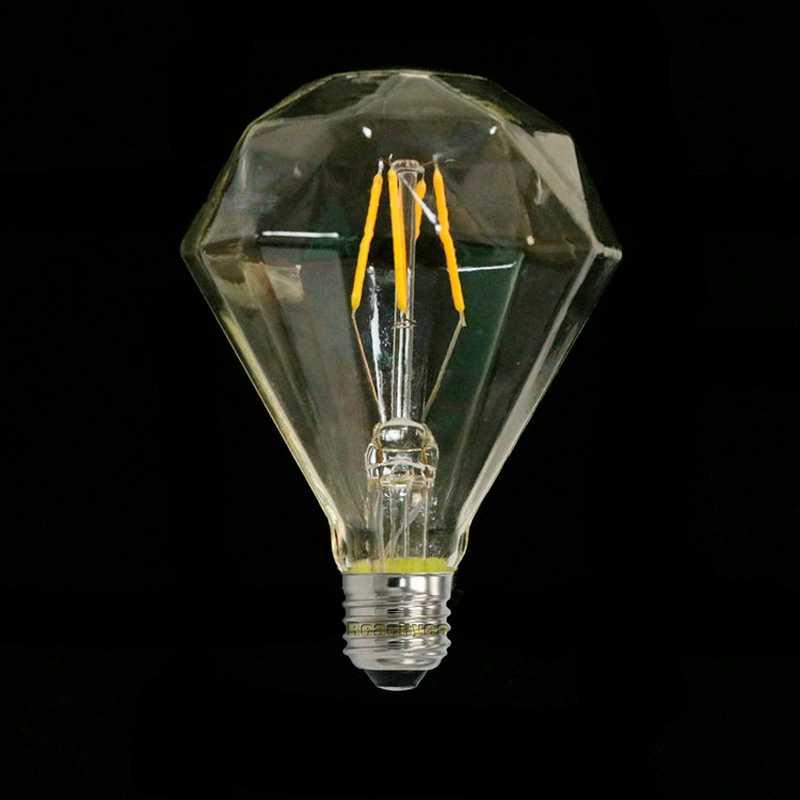 Светодиодный Алмазный Форма G95 Винтаж электрическая лампочка эдисона 220 V E27 теплый белый ретро светодиодный лампы