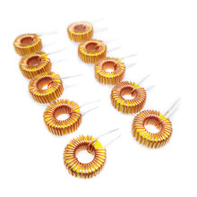 цена 5pcs Toroid Inductor 3A Winding Magnetic Inductance  Coil Wire Wrap Toroid Inductor 22UH/33UH/47UH/100UH/220UH/330UH/470UH