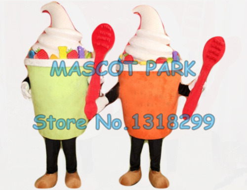 mascot 1 piece any color polular ice cream mascot costume adult size cartoon icecream theme summer ice food advertising dress